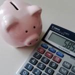 Calculatrice et petit cochon